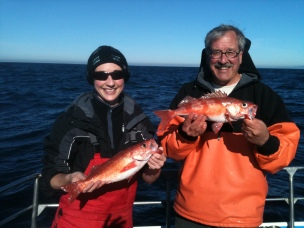 Collecting Chilipepper Rockfish in California